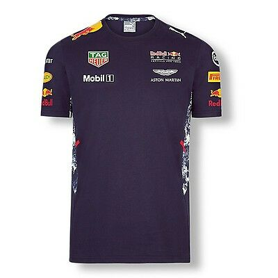 2017 OFFICIAL F1 Red Bull Racing Mens Teamline Team T-Shirt NAVY BLUE – NEW