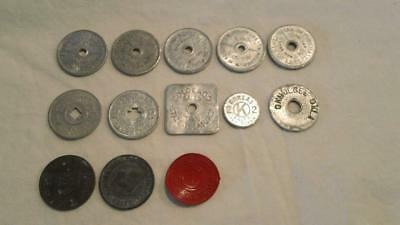 13 Mixed Sales Tax Tokens - FREE SHIPPING