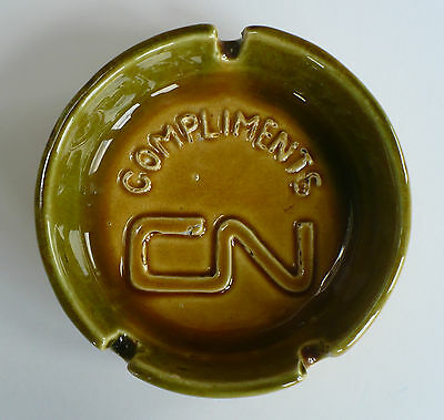 CN Canadian National Railway Pottery Ashtray Canada Compliments Beauce Quebec