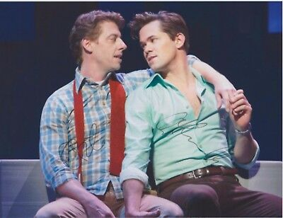 """Christian Borle & Andrew Rannells """"Falsettos"""" EXTREMELY RARE DUEL-SIGNED RP 8x10"""