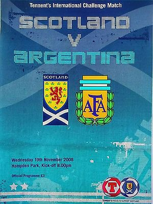 Scotland v Argentina Friendly International 19/11/2008 Maradona 1st game. Mint.