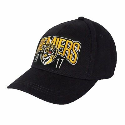 Richmond Tigers 2017 AFL Black Premiers Cap / Hat BNWT