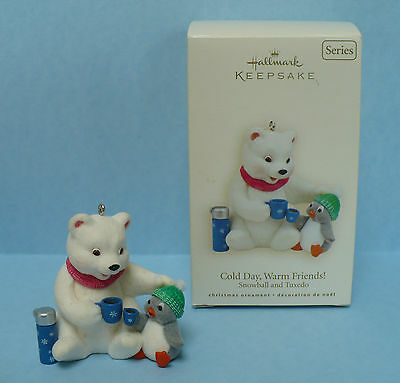 Hallmark Christmas Snowball Tuxedo Cold Day Warm Friends 8th 2008 Polar Bear