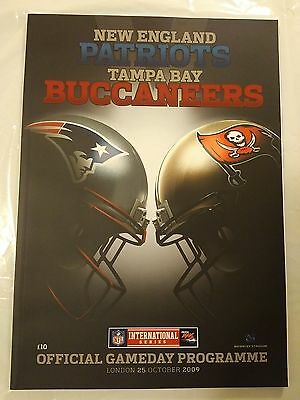 New England Patriots v Tampa Bay Buccaneer at Wembley Stadium 25/10/09 Mint.
