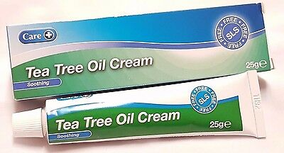 3 x TEA TREE OIL CREAM AUSTRALIAN TUBE SOOTHING ACNE COLD SORE ANTISEPTIC