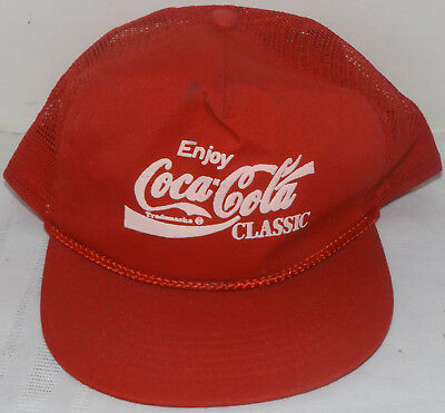 Enjoy Coca Cola Classic Red Snapback Hat Quality Caps by George