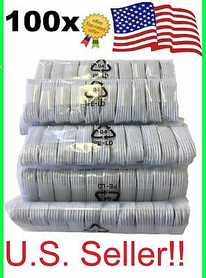 100x Lightning USB Cable Charger for Apple iPhone 5 6S 7 8 or Plus Wholesale lot