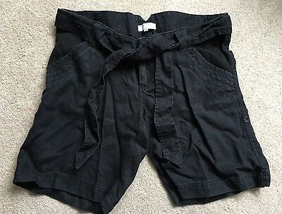 Mamas And Papas Womens Ladies Maternity Wear Black Summer Shorts Size 12 A19