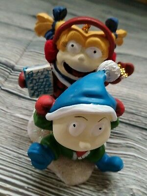 The Rugrats Christmas Ornament. Angelica On A Sled (2002) Xmas Tree Nickelodeon
