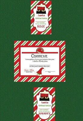 For use with Elf on the Shelf NAUGHTY and NICE TAGS and NICE CERTIFICATE