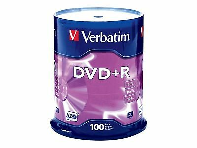 Verbatim AZO DVD+R 4.7GB 16X with Branded Surface 100pk Spindle 100-Disc New