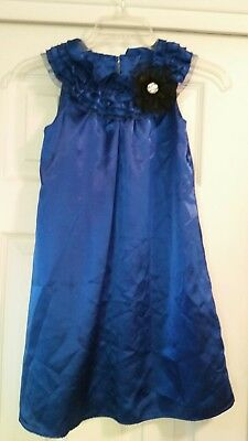 Holiday Edition Winter Holiday Dress, Girls Size 7/8 Dark Blue