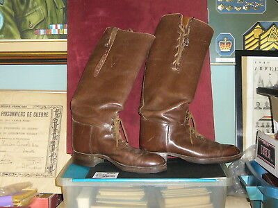 Original Canada - Obsolete Brown Leather High Top Police Boots