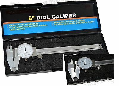 New Professional Dial Caliper with 6 Inches Measuring Range Stainless Steel