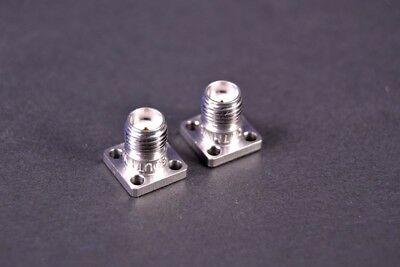 "(2) Southwest Microwave Female SMA Jack 4 Hole 0.375"" Square DC to 27 GHz"