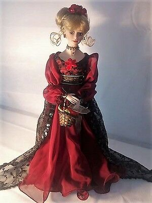 "Paradise Galleries 17"" Porcelain Doll ""Rosalind"" by Tom Francirek w/ Box"