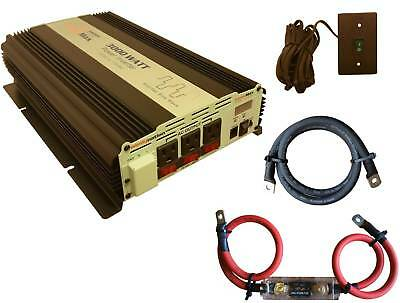 VertaMax 3000 Watt Modified Wave Power Inverter + Cables + Fuse + ON/OFF Remote