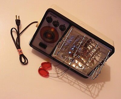 1976 WORKING Vintage Philips Sun Tanning Heat Lamp Model HP4000C Made in USA