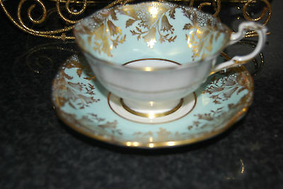 Vintage  Double Warrant Mint Green  Paragon China Tea Cup  & Saucer