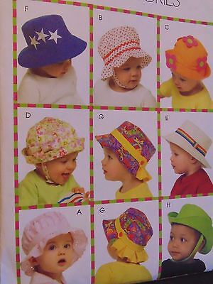 DIY Baby / Infants / Toddler Hat Projects - McCall's Sewing Pattern # 8841