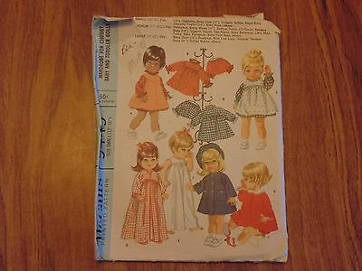 Wardrobe for Chubby Baby and Toddler Dolls - Vintage Cut Sewing Pattern # 9449