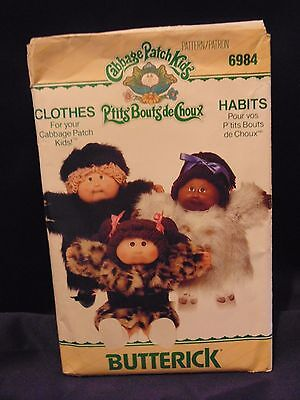 UNCUT Cabbage Patch Kids Doll Clothes Butterick Sewing Pattern   # 6984