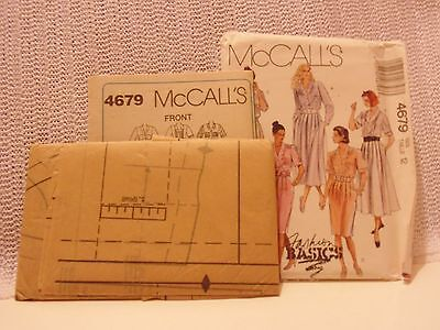 Vintage UNCUT Misses' Dress McCall's Brand Sewing Pattern  Size 12  # 4679