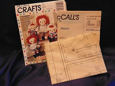McCall's Crafts Little Raggedys Raggedy Ann & Andy Dolls Uncut Pattern # 5418