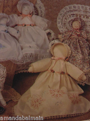 """1990 DIY Simplicity Heirloom Doll & Clothes Size 18"""" & 12"""" Sewing Pattern"""
