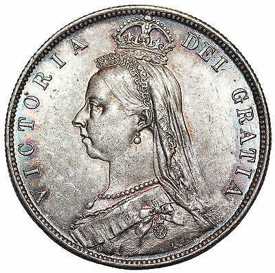 Great Britain 1888 Silver Half Crown KM#764 Queen Victoria