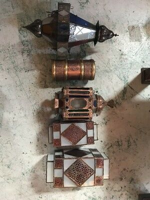 5 Moroccan Lanterns - Some Damage