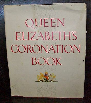 1953 QUEEN ELIZABETH'S CORONATION BOOK, beautifully illustrated HC+dust jacket
