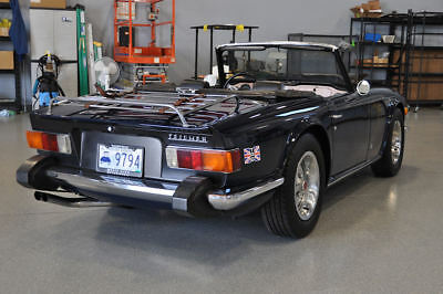 1974 Triumph TR-6 Blue with Black Interior 1974 Triumph TR6 Blue Convertible excellent condition