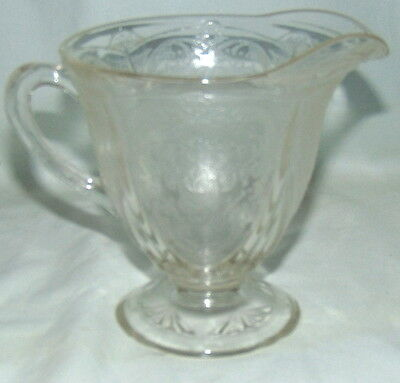 Hazel Atlas *ROYAL LACE CRYSTAL* FOOTED CREAMER*