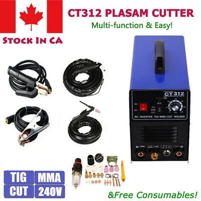 New 3 in 1 Multi Functional TIG/MMA/Air Plasma Cutter Welder Cutter Torch CT-312