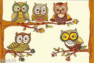 OWLS - GIRLFRIENDS modern Russian postcard