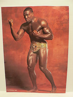 Frank Bruno Boxing Authentic Signed Autograph 8 1/2 x 11 Photo