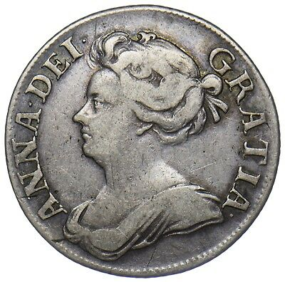 1709 Shilling - Anne British Silver Coin - Nice