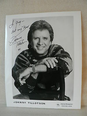 JOHNNY TILLOTSON American Singer Songwriter AUTOGRAPH SIGNED PHOTO  8  X 10