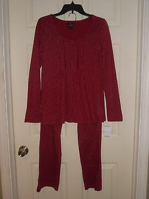 NWT NEW Oh Baby by Motherhood Maternity 2 Piece Pajamas Sleep Set Size Small Red