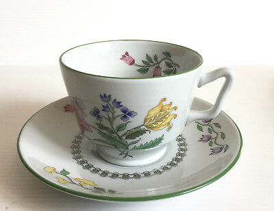 SPODE Summer Palace (fine stone) Grey. Footed cup & saucer. 7 available