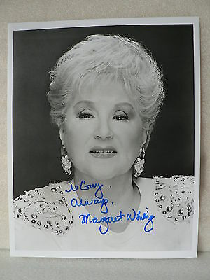 MARGARET WHITING Pop Singer * ORIGINAL AUTOGRAPH SIGNED PHOTO 8 X 10