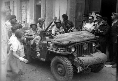 WW2  Photo WWII US Troops in Jeep Ardeche France 1944 World War Two / 1614