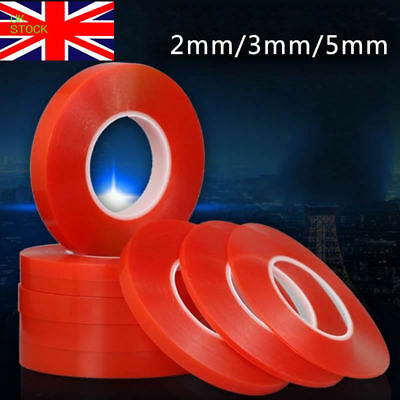 2/3/5mm*25m Red Double Side Adhesive Tape Stickers For Mobile Phone LCD Screen