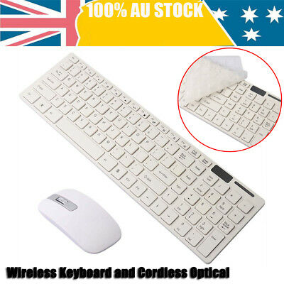 2.4G Optical Wireless Keyboard and Mouse Combo Kit with USB Receiver for PC