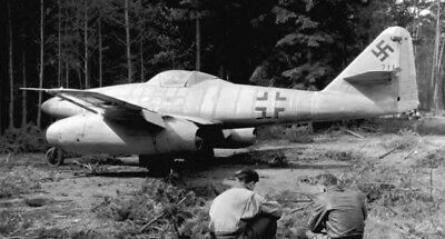 WW2 Photo WWII German Me262 Jet Fighter in Forest 1945  World War Two / 6118