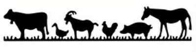 Die-versions - Farm Animal Border metal dies - for use in most cutting systems