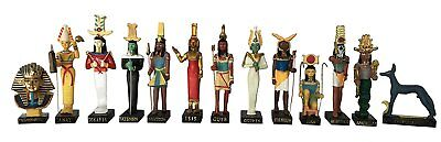 Ancient Egypt Egyptian God 13 Figurines Set Resin Statue Size 5' High Khnoum,