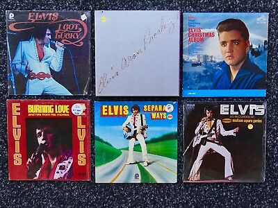 Lot of 12 Elvis Presley vinyl LP record collection - Aron Box Christmas Live 70s