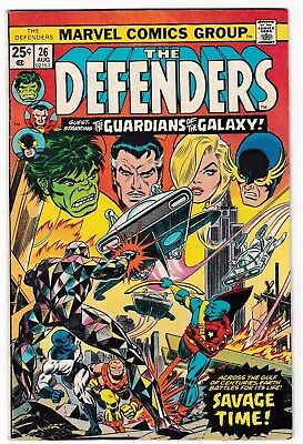 DEFENDERS #26 (FN-) early Guardians of the Galaxy Appearance! August 1975 Marvel